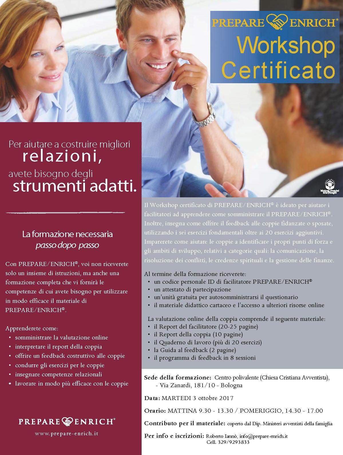 Workshop Certificato, ottobre 2017